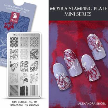 Moyra MINI Stamping Plate - Breaking The Silence Nr.111
