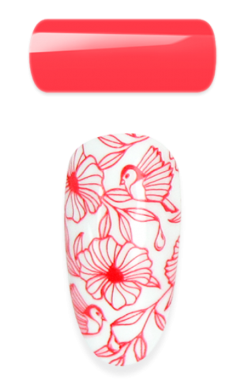 2in1 - Stamping & Painting Gel - Nr.12 - Vivid Red