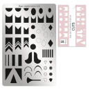 Nailart Stamping Schablone - Cuts Nr.60